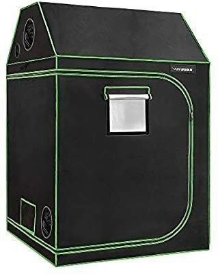 VIVOSUN   Roof Grow Tent with Observation Window and Floor Tray for Indoor Plant Growing 48 x 48 x 72 im