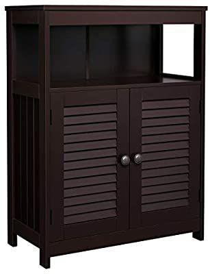 VASAGlE   Bathroom storage cabinet with double door and adjustable shelf