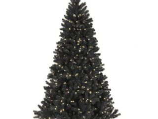 7 5 ft  North Valley Black Spruce Tree with Clear lights