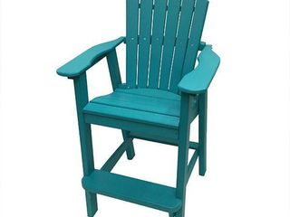 Phat Tommy Recycled polyresin balcony chair  durable and environmentally friendly Adirondack  This patio furniture is ideal for your lawn  garden  pool  deck