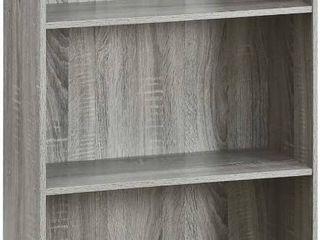 Furinno 99736DBR Basic 3 Tier Storage Shelving  Wood  French Oak Gray