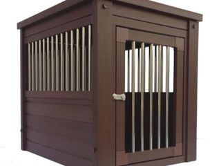 New Age ecoFlEX Habitat  N  Home Stainless Steel Dog Crate   Brown