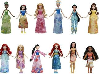 Disney Princess Royal Collection  12 Fashion Dolls   Ariel  Aurora  Belle  Cinderella  Jasmine  Merida  Moana  Mulan  Pocahontas  Rapunzel  Snow White  Tiana