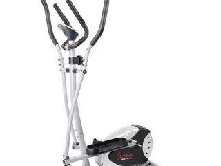 Sunny Health Fitness Magnetic Elliptical w Heart Rate Monitoring   SF E905