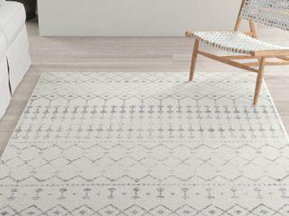 nulOOM Indoor Geometric Gray Rug   6  Square
