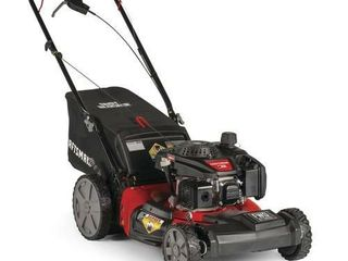 Craftsman M215 159cc 21 Inch 3 in 1 High Wheeled FWD Self Propelled Gas Powered lawn Mower with Bagger   USED