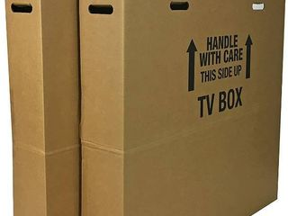TV Moving Box Fits up to 60  plasma  lCD  or lED TV   1 Pack