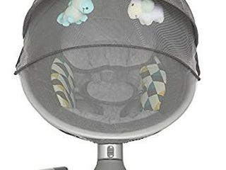 Dream On Me  Zazu Cradling Swing  Grey and Blue   MISSING STUFFED ANIMAl PIECES AND POWER CORD CONNECTOR PIECE