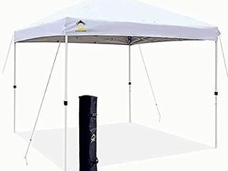Outdoor Canopy Portable Shade Instant Folding With Carry Bag 10 X 10 Ft White   missing carrying bag