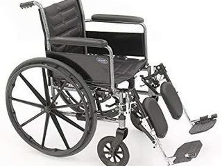 Invacare Tracer EX2 Wheelchair  with Full length Arms and T94HCP Elevating legrests with Padded Calf Pads  20  Seat Width