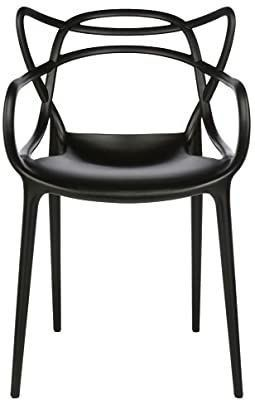 TCS Home Supplies Modern Designer Black Masters Dining Chair