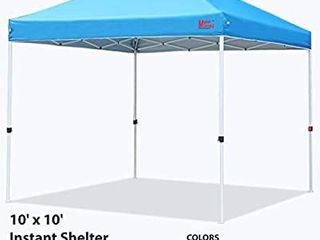 MasterCanopy Compact Canopy 10x10 Ez Pop up Canopy Portable Shade Instant Folding Better Air Circulation Canopy with Wheeled Bag  Sky Blue