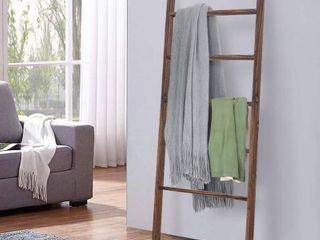 RHF 48  Decorative ladder ladder Shelf leaning Shelf Decorative ladder for Bathroom  ladder Shelf Stand  Rustic Farmhouse Wood ladder