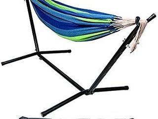 BalanceFrom Double Hammock with Space Saving Steel Stand and Portable Carrying Case  450 Pound Capacity