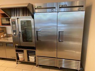 True T23 F S S Single Door Freezer
