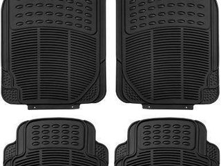FH GROUP BlACK All WEATHER 4 PIECE CAR FlOOR MAT