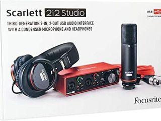 SCARlETT 2I2 STUDIO THIRD GENERATION 2 INCH USB