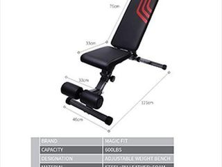 MAGIC FIT ADJUSTABlE WEIGHT BENCH
