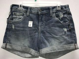 SIlVER JEANS WOMENS SHORTS SIZE W28 l4 5