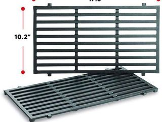 WEBER COOKING GRATES  17 5 X 10 2 INCHES