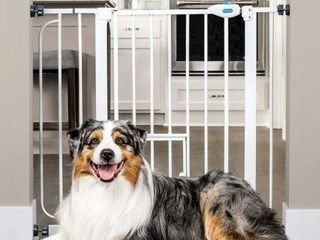 CAlSON EXTRA WIDE PET GATE W  SMAll DOOR