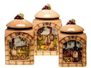 3 PIECE TUSCAN CANISTER SET