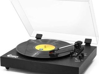 VINYl MUSIC ON RETRO RECORD PlAY VINTAGE TURNTABlE