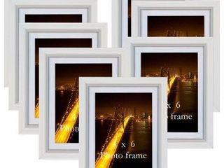 GIFTGARDEN 4 X 6 WAll PHOTO FRAME 8 PIECE