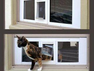IDEAl SASH WINDOW CAT FlAP 27   32 INCH