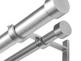 UMBRA DOUBlE CURTAIN ROD  72 144 INCHES