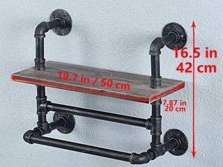 MBQQ INDUSTRIAl PIPE BATHROOM WAll MOUNTED SHElVES