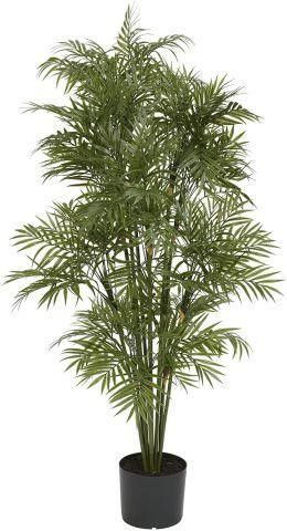 NEARlY NATURAl PlASTIC PARlOUR PAlM TREE 4