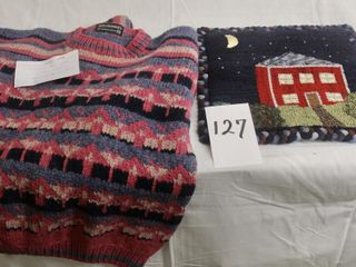 Hand Knit sweater in Medium with liberty Wool plus