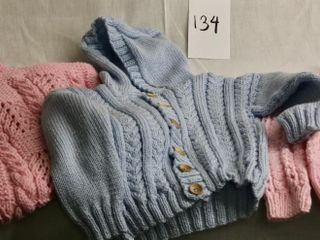 Baby Child hand knittd sweaters and blanket