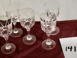 Crystal wine sherry glasses