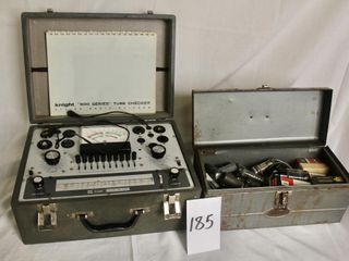 Vintage vacuum tube tester in carry case