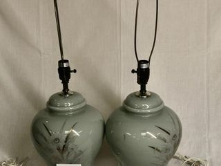 2 ceramic lamps without shades