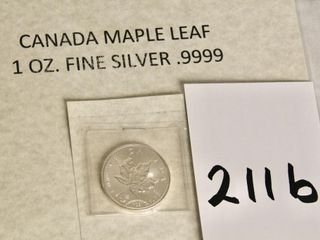 CDN Maple leaf 1oz Fine Silver uncirculated coin