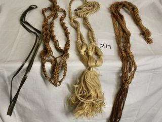 Bag of vintage macrame   various materials
