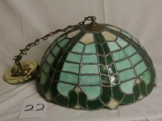Vintage leaded Tiffany style stained glass shade