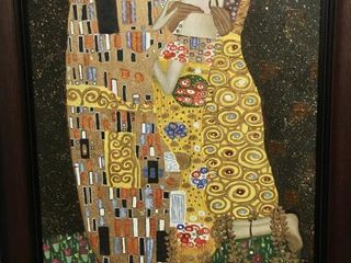 Framed print on canvas  The Kiss  by Gustav Klimt