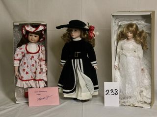 Ornamental Collectible dolls with bisque heads