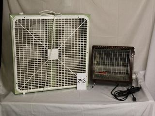 General Electric heater and Torcan 2 speed 20