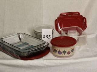 Assorted casserole dishes etc