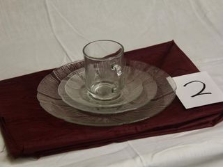 Toughened Glass place settings