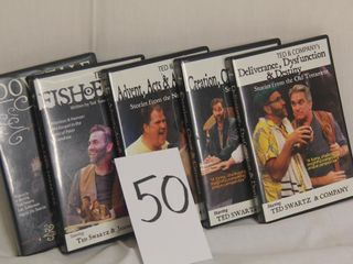 5 Biblical DVDs   various titles