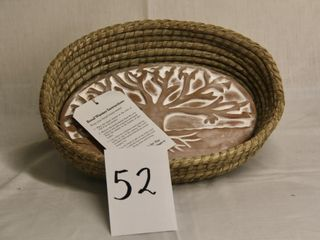 Oval Bread Basket with Oval Clay Warmer