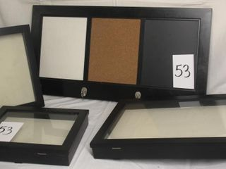 Wall mounted board and shadow boxes