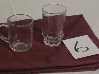 Toughened Glass mugs   water glasses