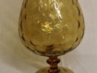 large Amber Snifter for Decor